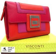 Mesdames sac à Main Cuir Souple Rouge / Violet / Orange Visconti Bali nouveau dans boîte cadeau grand