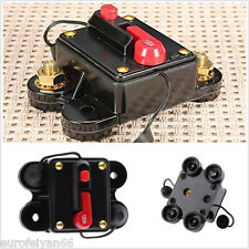 12-24V 100 Amp Manual Reset Vehicle Audio Inline Circuit Breaker Fuse Holder Kit