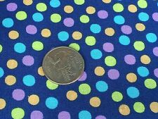 Fabric Sea Smiles Colored Bubbles on Navy Blue Cotton  by the 1/4 Yard BIN