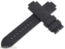Louis Vuitton Womens 10mm Black Rubber Watch Band Strap