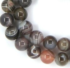 "15.5"" Natural Mixed Colors Botswana Agate Round approx. 40 Beads 10mm K1010"