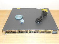 Cisco Catalyst WS-C3750E-48TD-S 48x Gbit + 2x 10Gbit GIGABIT Switch