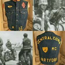 VTG Gang Members Club Motorcycle Harley Honda Vest Levis Hartford CT XL RARE!!!