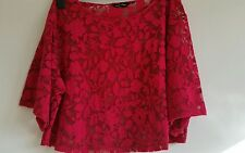 New look ladies cropped top blouse pink size 16