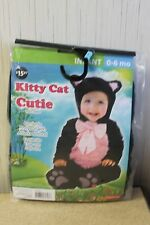 NEW KITTY CAT GIRLS BOYS SIZE 12-18 MONTHS HALLOWEEN COSTUME OUTFIT BODYSUIT