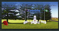 Norfolk Island 2015 MNH Remembering Gallipoli Landing Cent 1v MS World War I WWI