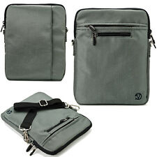"Gray 10"" Tablet Shoulder Bag Case For Samsung Galaxy Tab A / Tab E / Tab S2 9.7"""