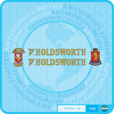 Holdsworth - Bicycle Decals Transfers Stickers - Gold With Black Key - Set 3