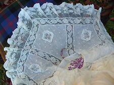 Antique Lace Cotton Blouse Clothing Textiles Costume Embroidery