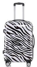 Carbon Hartschalen Reise Koffer Trolley Handgepäck Gr.XL Motiv Retro Style Zebra