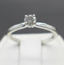 .29cts 4.22mm Rare Natural Fancy Silver Color Diamond Ring $450 Value