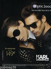 Publicité advertising 2013 Les Lunettes opticiens Optic 2000 Karl Lagerfeld