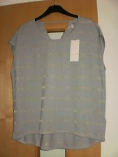 M & S Per Una Metallic Effect Striped T-Shirt Top Size 18 BNWT