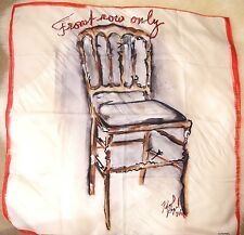 New Rare Chanel 16 Silk Front Row Only Karl L Runway Chair White Red Scarf #913