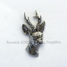 ONE PEWTER BADGE FOR WALKING STICK MAKING ROE DEER HEAD