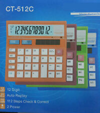 Multi Color & Multi-functional office solar big size desktop calculator CT-512