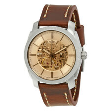Fossil Machine Beige Dial Mens Automatic Watch ME3115
