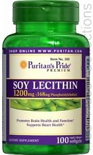 Treehousecollections: Puritan's Pride Soy Lecithin 1200mg, 100 Softgels
