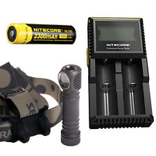 Zebralight H603w Headlamp -1126Lm w/Nitecore NL183 18650 Battery & D2 Charger