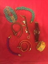 8 assorted multicolored different color leather bracelets and bangles