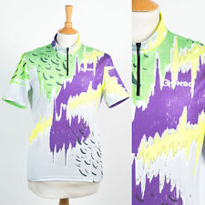 MENS VINTAGE GONSO BRAND 90'S BRIGHT NEON CYCLING SHIRT JERSEY LOUD BIKE M