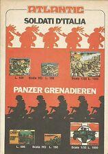 X9368 Atlantic - Soldati d'Italia - Panzer Grenadieren - Pubblicità 1975 - Adv.