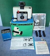 Vintage Polaroid SWINGER Land Camera Model No 20 In Box with Supplies