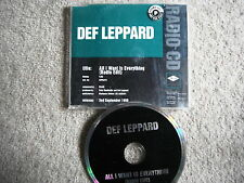 DEF LEPPARD ALL I WANT IS EVERYTHING PROMO CD SINGLE 1996 LEPDJ18 EX