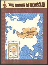 Mongolia 1997 KHANS/Empire Map/Military m/s n17814