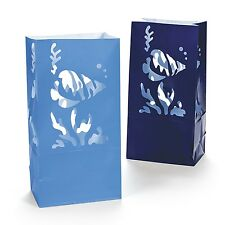 12 UNDER THE SEA Luminary Bags FISH THEME Wedding BIRTHDAY PARTY Centerpiece