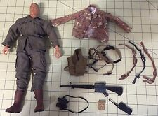 "G.I. Joe 12"" Used Soldier 2001 Century Toys Vintage Lot + Gun, Extra Cloths, +++"