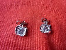 TWO Silver Coloured Charms,Apple Style,Pendant,Christmas Gift,Gift,Lady Or Child