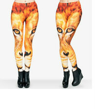 RARE LION  PRINTED LEGGINGS  UNUSUAL DESIGN  3D STYLE WILD ANIMAILS