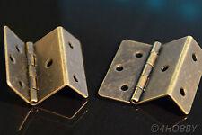 2 Antik-Scharniere Eckig Schmuckkästchen 43 mm Alt Antik, Schatulle Schatztruhe