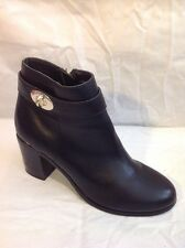 Top Shop Black Ankle Leather Boots Size 7