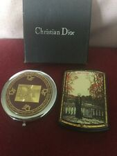 Two Handbag Mirrors,Russian Example With Figural Balcony Scene And Dior With Box