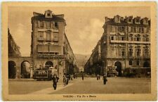 Cartolina Formato Piccolo - Torino - Via Po E Zecca Viaggiata