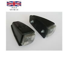 2 X WHITE SIDE MARKER ROOF LAMPS LIGHTS 12/24V LORRY TRAILER TRUCK E-MARKED