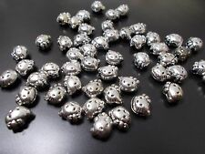 100pcs 10mm x 8mm HELLO KITTY Acrylic Beads - TIBETAN ANTIQUE SILVER Cat Charms
