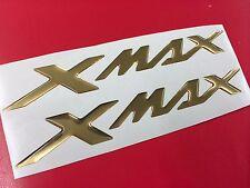 Coppia Adesivi Resinati Sticker 3D XMAX X MAX New Cromo Gold