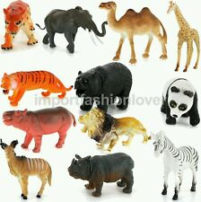 Plastic PVC Wild Animals Model Set Kids Toy Gift 12pcs Multi-color