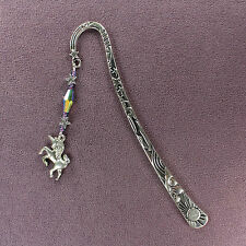 UNICORN TOTEM BOOKMARK Wand Charm Horse Purple Blue Symbol Magick Stars Pegasus