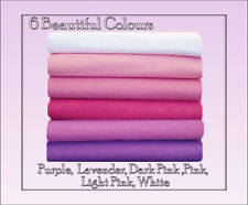 ECO Friendly WOOL FELT Fabric Squares Pink, Purple Shades 12 squares 30cm x 25cm