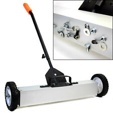 "36"" Heavy Duty Magnetic Roller Sweeper Magnet Pick Up Tool 30LB Capacity Ga"