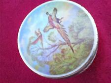 Vintage Thornes Leeds England toffee tin with game bird picture design