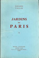 Jardins de Paris Jean Louis Vallas Poème Poésie