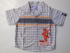Target Disney Tigger baby boy clothes check cotton shirt size 1 EC