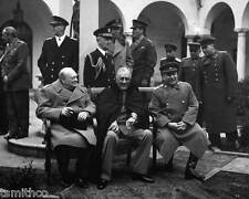 Winston Churchill Roosevelt & Stalin 8x10 Photo 005