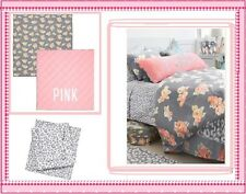 Victoria's Secret PINK floral reversible COMFORTER + BED SHEETS dorm TWIN XL 4pc