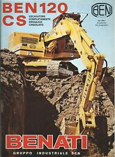 Brochure Benati Ben 120 CS Escavatore Idraulico Cingolato 1977